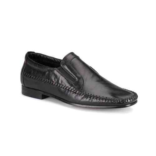 Flogart 120 M 1366 Siyah Erkek Deri Ayakkabı