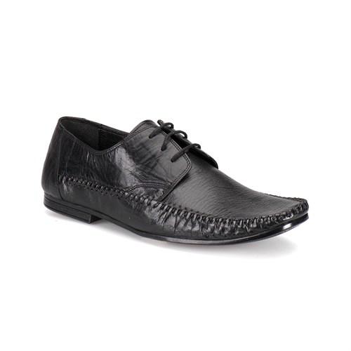 Flogart 108 M 1366 Siyah Erkek Deri Ayakkabı