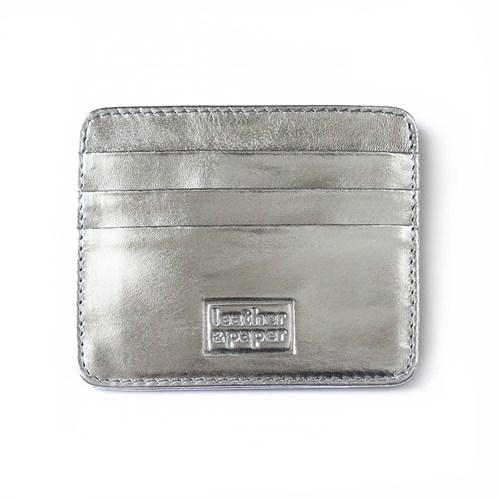 Leather&Paper Gümüş Deri Kredi Kartlık