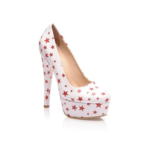 Sothe Bayan Platformlu Özel Tasarım Baskılı Ayakkabı
