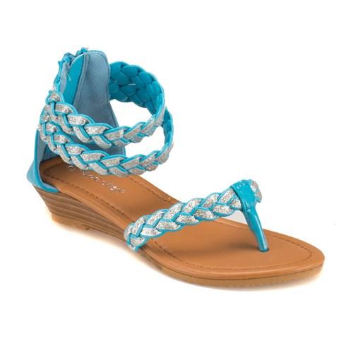 Pink Step 201593 Mavi Kız Çocuk Sandalet