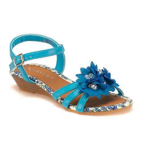 Pink Step 201590 Mavi Kız Çocuk Sandalet