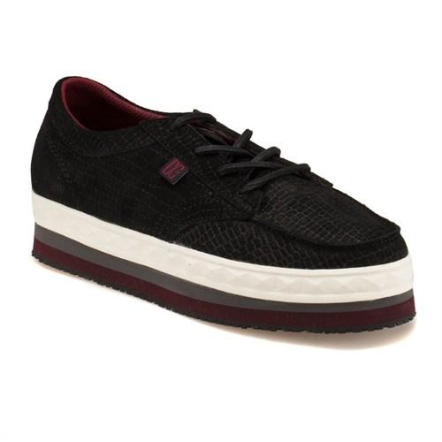 Dc 320413 Blw Siyah Kadın Deri Sneaker