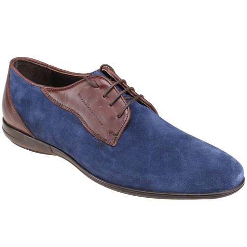 Jj-Stiller Kl-59123-2 M 1506 Mavi Kahverengi Erkek Deri Ayakkabı