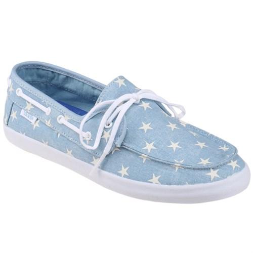 Vans Chauffette Mavi Beyaz Kadın Loafer