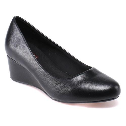 Travel Soft O17048 Siyah Kadın Gova Ayakkabı