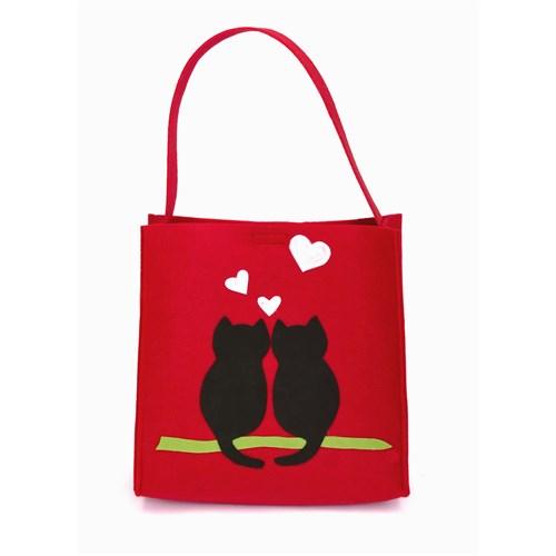 Orijinal Kulüp Cats In Love Kedi Motifli Çanta