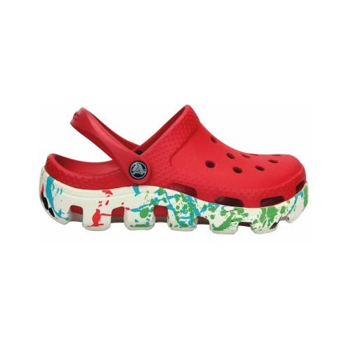 Crocs Duet Sport Splatter Graphic Clog Kids