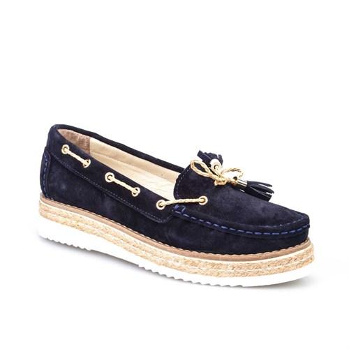 Cabani Kadın Ayakkabı Lacivert Süet