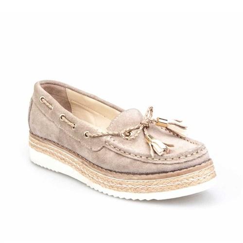 Cabani Kadın Ayakkabı Vizon Süet