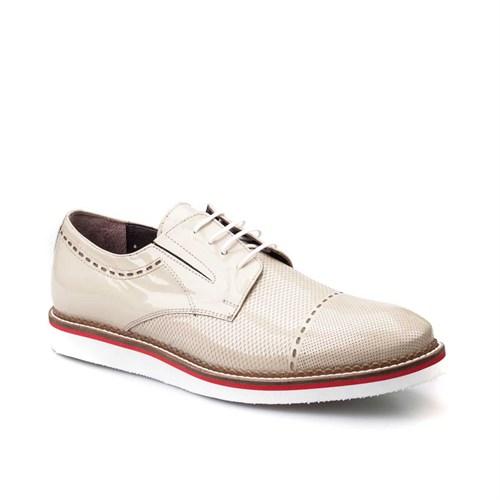 Cabani Oxford Günlük Erkek Ayakkabı Bej Açma Deri