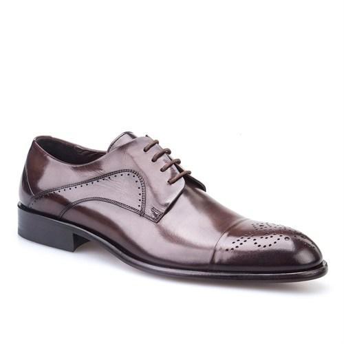 Cabani Bağcıklı Günlük Erkek Ayakkabı Kahve Buffalo Deri