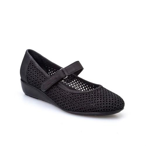 Cabani Kadın Ayakkabı Siyah Nubuk