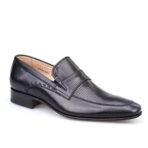 Cabani Günlük Erkek Ayakkabı Siyah Antik Deri