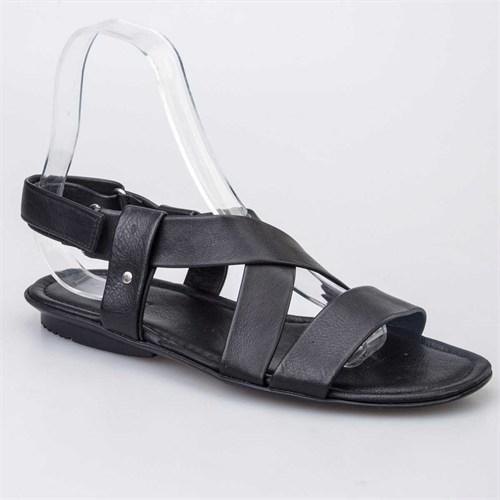 Cabani Erkek Sandalet Siyah Deri