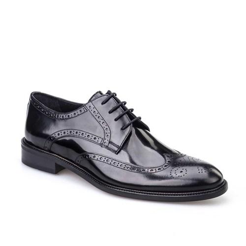 Cabani Bağcıklı Klasik Erkek Ayakkabı Siyah Açma Deri