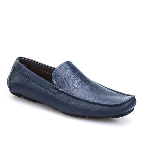 Cabani Makosen Günlük Erkek Ayakkabı Lacivert Kırma Deri
