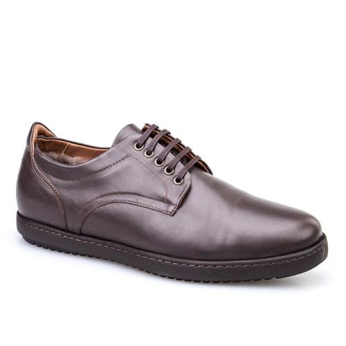 Cabani Bağcıklı Günlük Erkek Ayakkabı Kahve Soft Deri