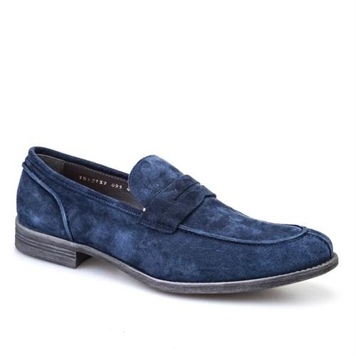 Cabani Kemerli Klasik Erkek Ayakkabı Lacivert Süet