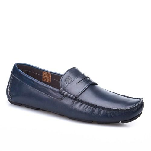 Cabani Makosen Günlük Erkek Ayakkabı Lacivert Antik Deri