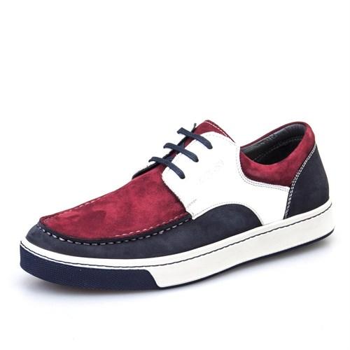 Cabani Bağcıklı Günlük Erkek Ayakkabı Beyaz Flap Deri