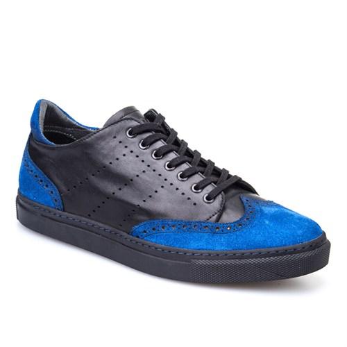 Cabani Bağcıklı Günlük Erkek Ayakkabı Mavi Süet