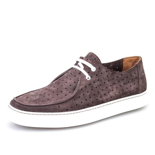 Cabani Lazerli Sneaker Erkek Ayakkabı Vizon Süet
