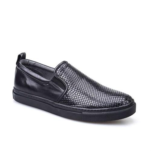 Cabani Günlük Erkek Ayakkabı Gri Yılan Deri