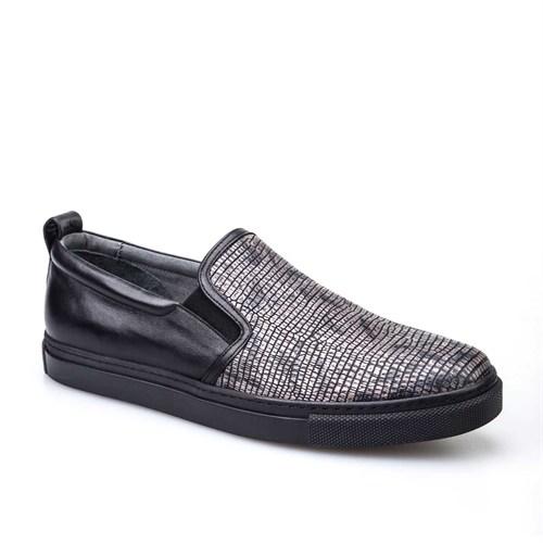 Cabani Günlük Erkek Ayakkabı Gri Croco Deri
