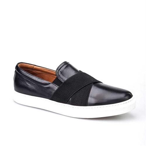 Cabani Günlük Erkek Ayakkabı Siyah Analin Deri