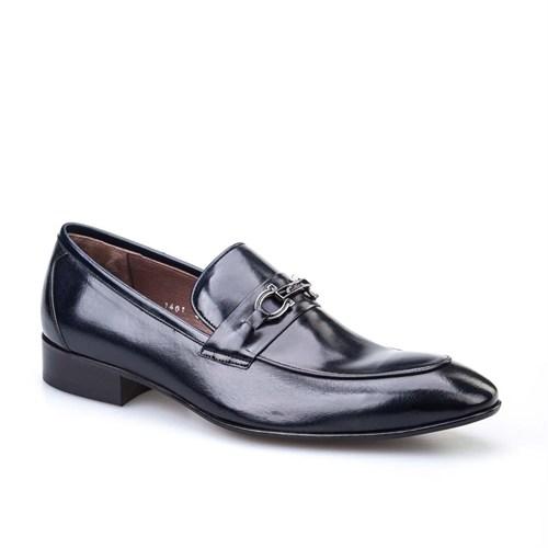 Cabani Günlük Erkek Ayakkabı Lacivert Buffalo Deri