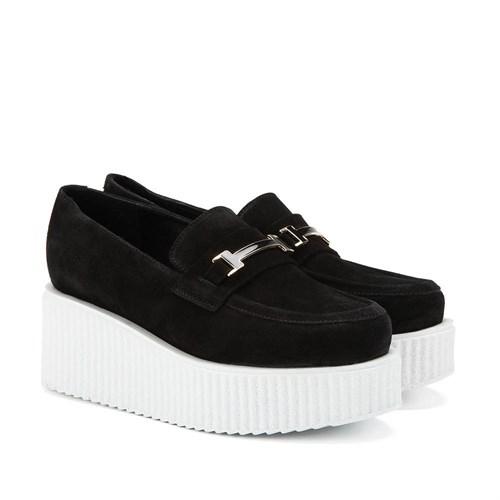 İlvi Djina 15049 Siyah Süet Ayakkabı