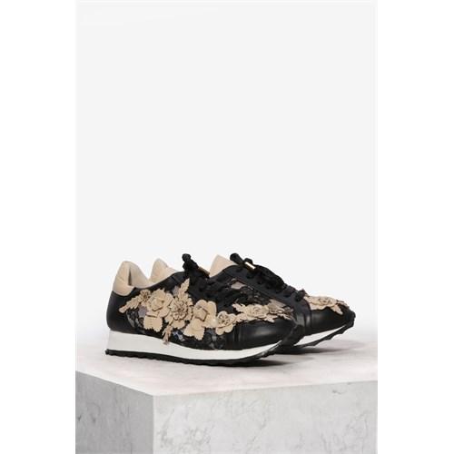 İlvi Flora 9725 Siyah Bej Spor Ayakkabı