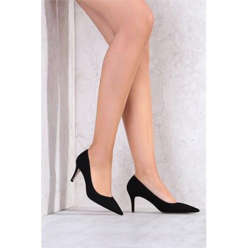 İlvi Juliet 3670 Siyah Süet Stiletto
