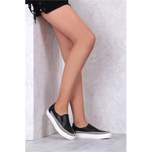 İlvi Kalin 6256 Siyah Deri Spor Ayakkabı