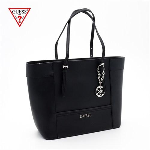 Guess Çanta Hwey45 35230 Delaney Med Classic Tote Black