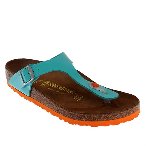 Birkenstock Gizeh Bf Lack 745221 Kadın Terlik Oceangreen Ls Orange