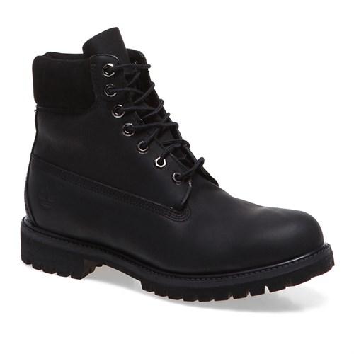 Timberland 6in Premium Boot 10054 Erkek Bot Black Smooth