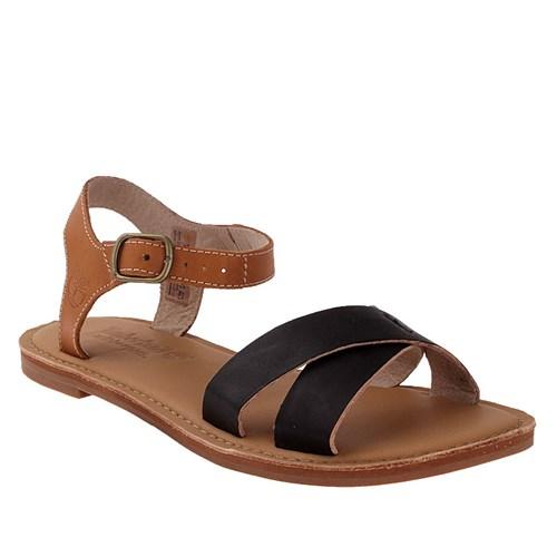 Timberland Ek Sheafe Ankle Strap 8732A Kadın Black Dry Gulch Wıth Tan Sandalet