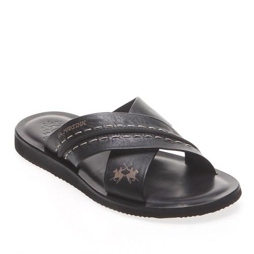 La Martina L6096184 Erkek Ayakkabı Nappa Nero