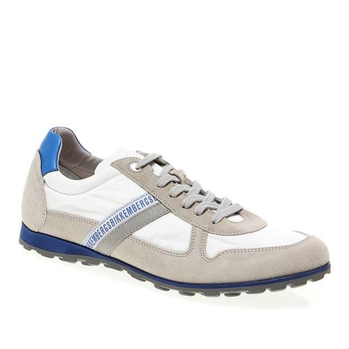 106440 Bikkembergs Rascal 832 L.Shoe M Fabric/Suede Bke Erkek Ayakkabı Whıte Suede