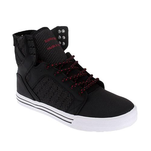 Supra Skytop S18244 Erkek Ayakkabı Black Red Whıte