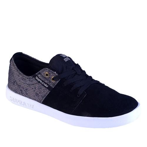 Supra Stacks ii S45140 Erkek Ayakkabı Black Alumınıum Whıte