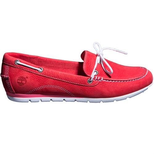 Timberland Ek Harbrside1Eye 8420B Kadın Kırmızı Loafer