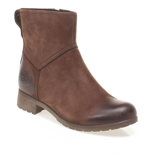 Timberland Ek Putnam Ankle Brn/Br 8511R Kadın Bot Dark Brown Nubuck
