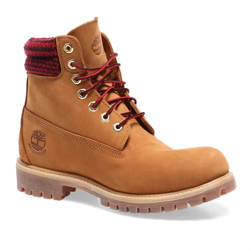 Timberland 6 İn Double Collar Boot 6613A Erkek Bot Sarı