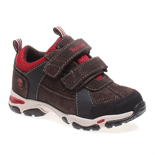 Timberland Ek Trail Force Wp H&L Ox 9286R Çocuk Bot Dark Brown Wıth Red