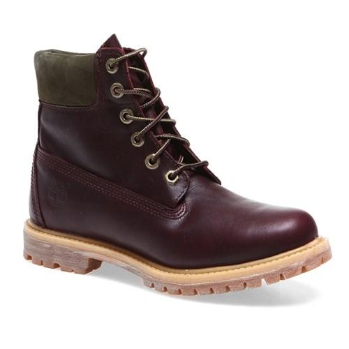 Timberland Premium Boot - W 8230A Kadın Bot Dark Burgundy