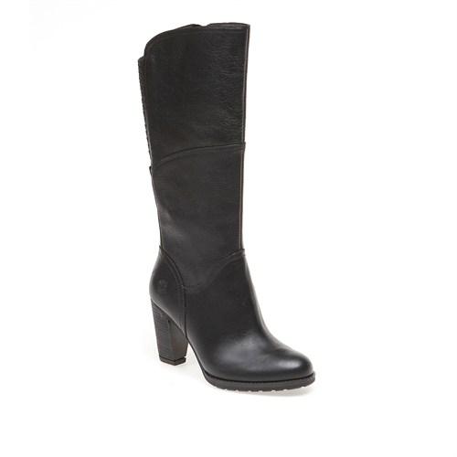 Timberland Stratham Heights Tall Zip Wp Boot 8610A Kadın Siyah Çizme