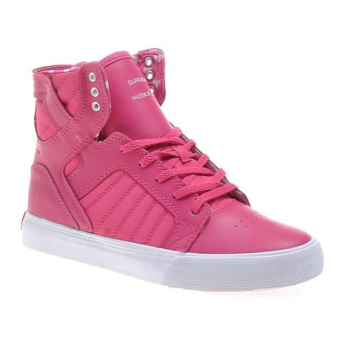 Supra Corner Kids Skytop S13024K Çocuk Ayakkabı Hot Pink White